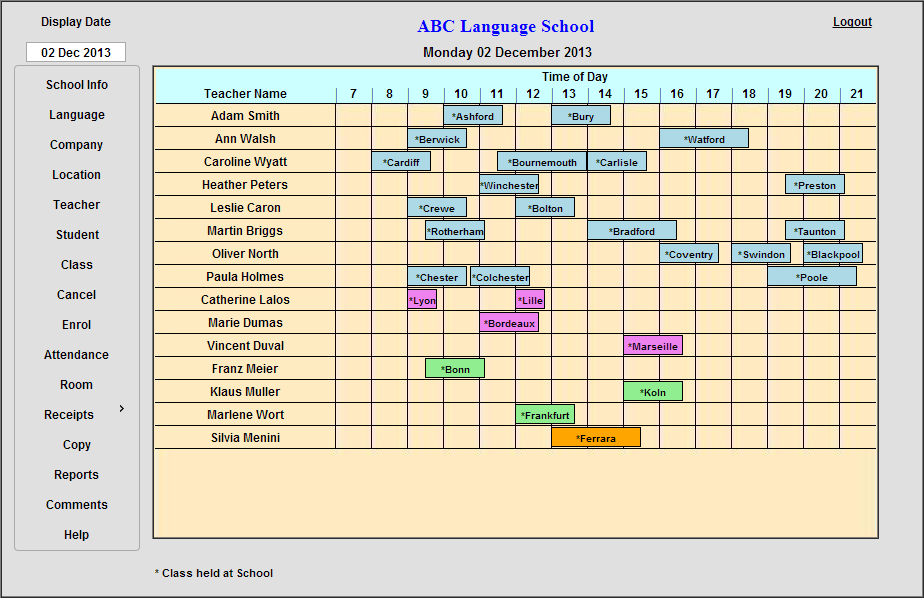 TESS - Teacher Scheduling System - Daily Teacher Schedule.